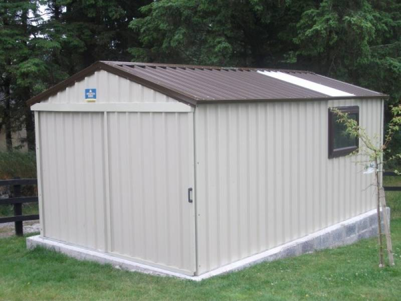 5m x 3m Steel Shed