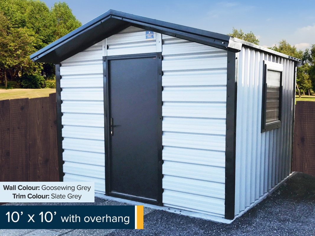 10ft x 10ft with Overhang Shed