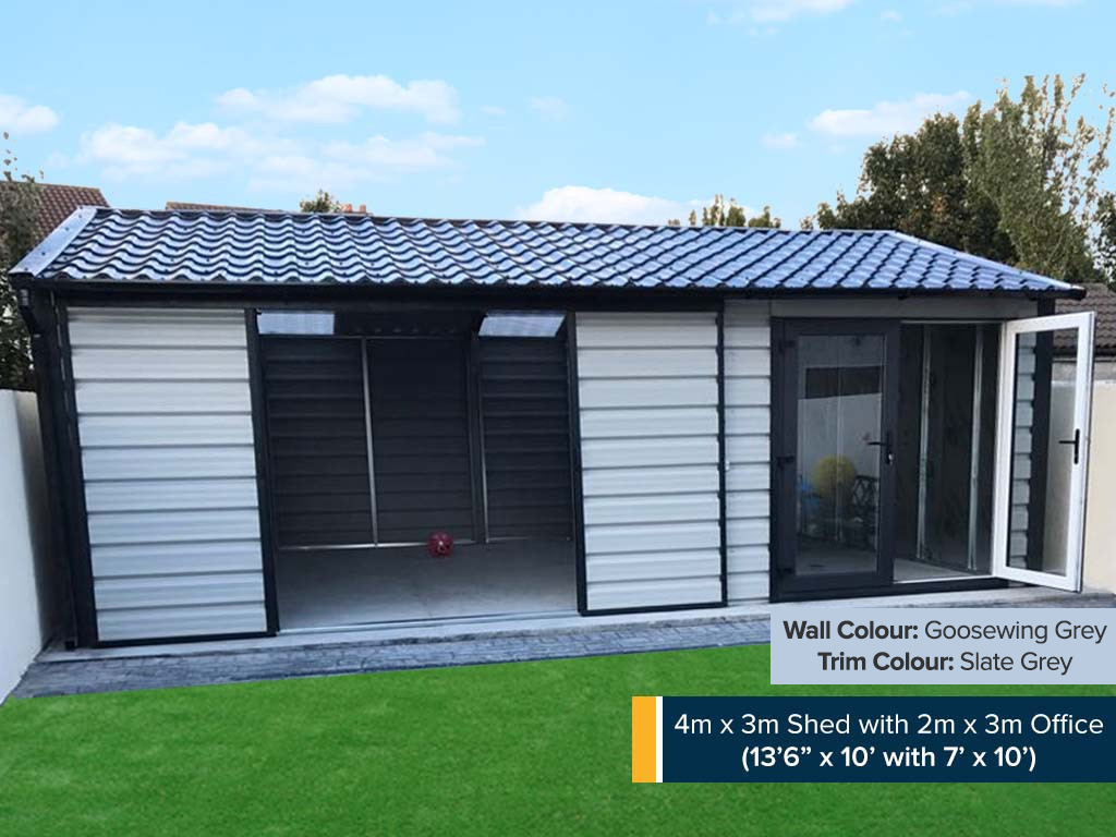 6m x 3m Supreme Shed with Office