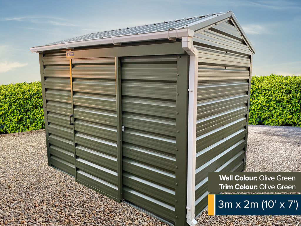 10ft x 7ft with Door in the Centre