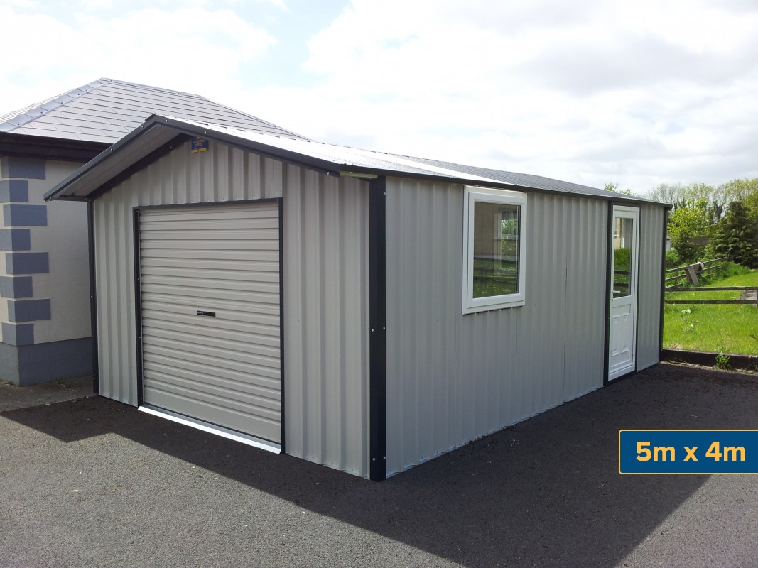 Steel garages garages ireland metal garages garages for Metal garage pics
