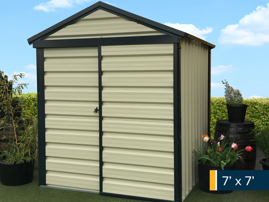 2m x 2m Steel Shed