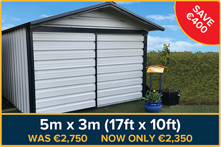 Garden Sheds 5m X 3m discounted sheds, special offer sheds, cheap sheds, ex-display